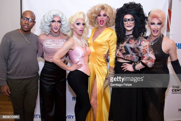 Monte X Change Marti Gould Cummings Ms Cracker Sherry Vine Ruby Roo and Sutton Lee Seymour attend 'The Drag Roast Of Sherry Vine' at The LGBT...