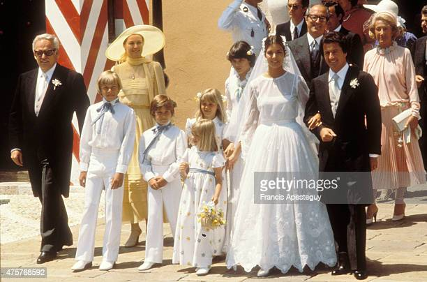 MonteCarlo Monaco 29 July 1978 Princess Caroline of Monaco with her first husband Philippe Junot during their marriage in Monaco