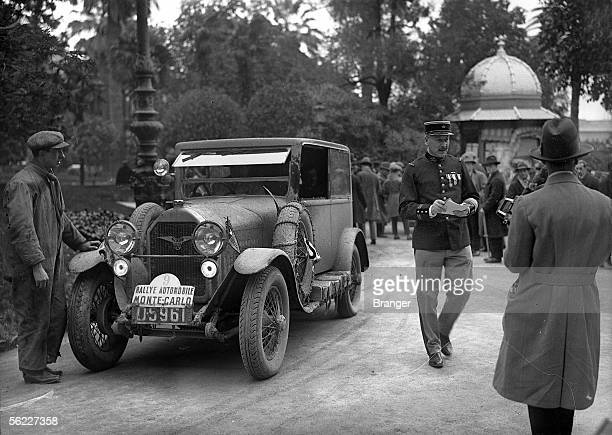 Monte-Carlo rally. Motorcar FN , about 1925-1930.