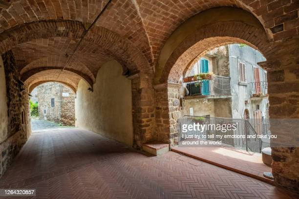 montecatini val di cecina, pisa - tuscany, italy - fortified wall stock pictures, royalty-free photos & images