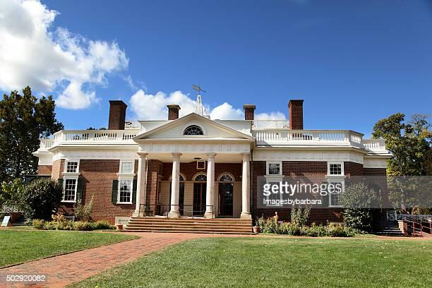 montecello home of thomas jefferson - james madison stock photos and pictures