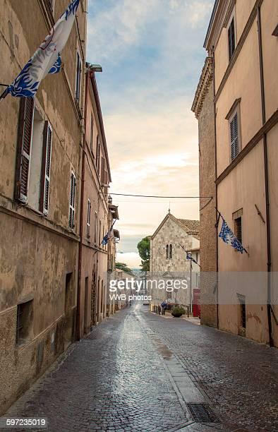 montefalco, province of perugia, umbria. - モンテファルコ ストックフォトと画像