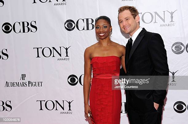 Montego Glover and Chad Kimball attend the 64th Annual Tony Awards at Radio City Music Hall on June 13 2010 in New York City