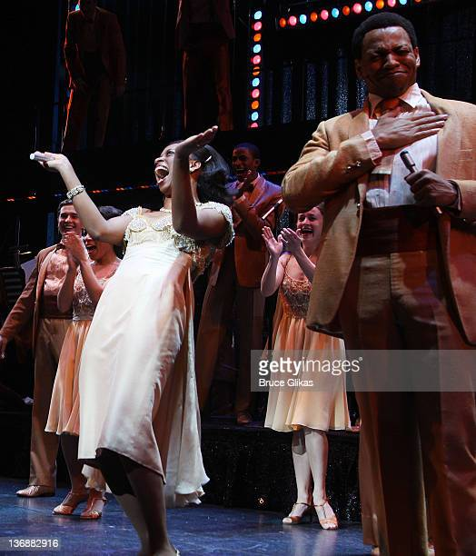 Montego Glover and Derrick Baskin and the cast of Memphis perform at a special performance of Memphis for Inspire Change presented by Audemars Piguet...