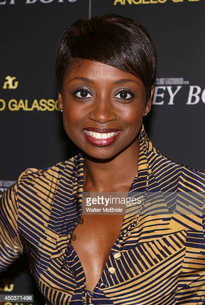 Montego Glover attends a special New York screening reception for 'Jersey Boys' hosted by Angelo Galasso at Angelo Galasso on June 2014 in New York...