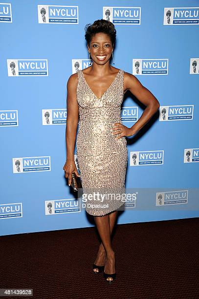 Montego Glover attends Broadway Stands Up For Freedom at the NYU Skirball Center on July 20 2015 in New York City