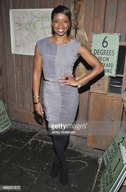 Montego Glover attends 'Six Degrees Of Stockard Channing' at The Lodge at The McKittrick Hotel on March 3 2015 in New York City