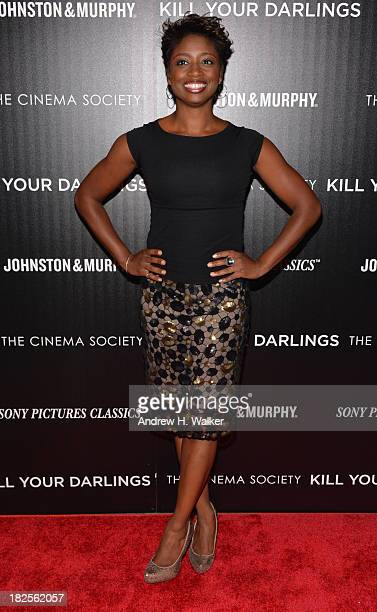 Montego Glover attends The Cinema Society and Johnston Murphy screening of Sony Pictures Classics' Kill Your Darlings at Paris Theater on September...