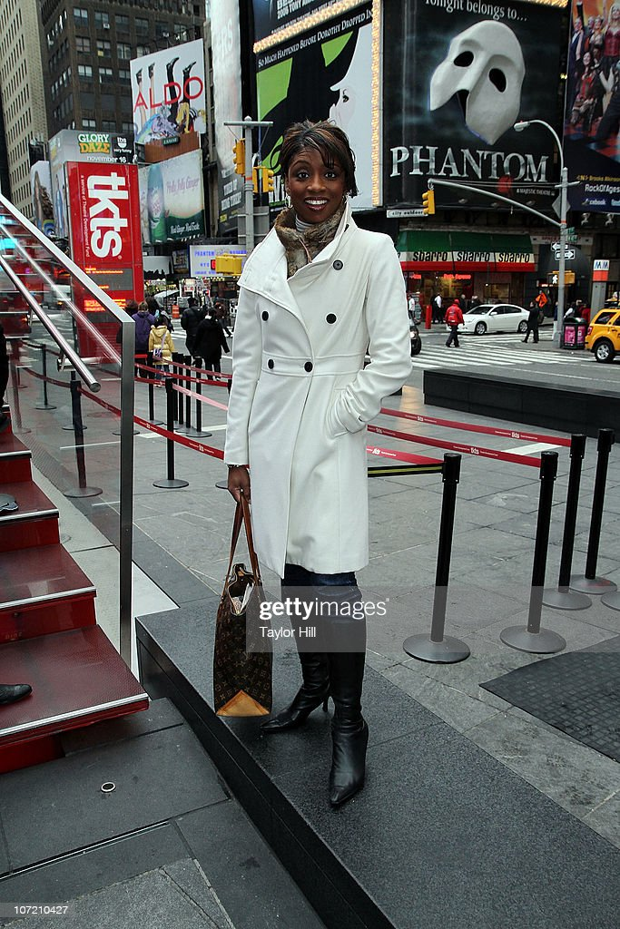 Montego Glover attends the Stand Up to Cancer Times Square News Year's Eve initiative launch at Duffy Square on November 30, 2010 in New York City.