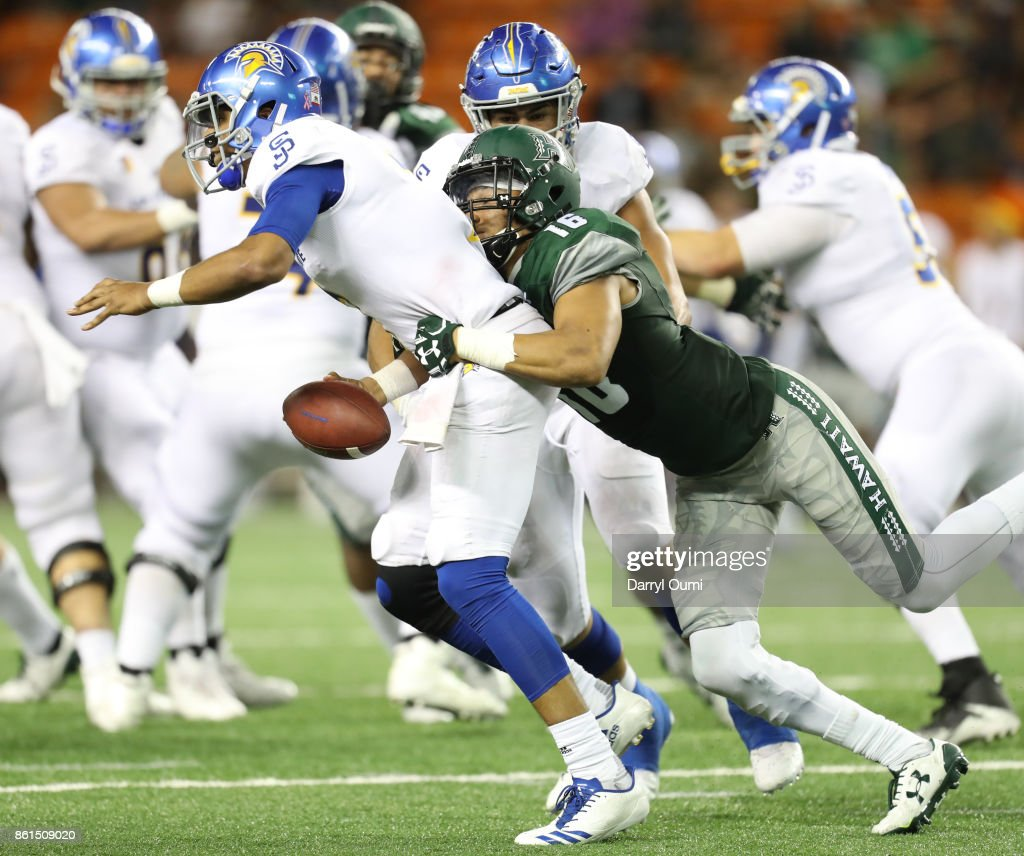 San Jose State v Hawaii : News Photo