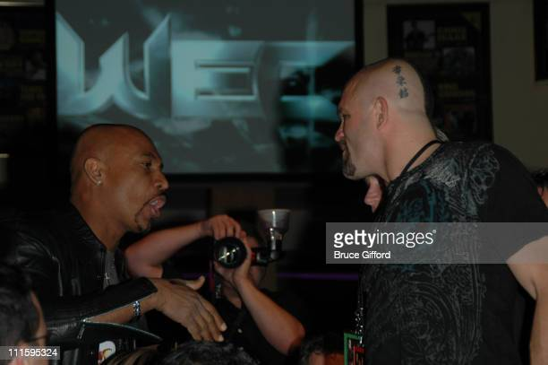 Montel Williams and Chuck Liddell during World Extreme Cagefighting - January 20, 2007 at Hard Rock Hotel and Casino in Las Vegas, Nevada, United...