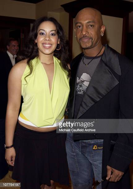 Montel Williams and daughter Ashley during 11th Annual Race to Erase MS Red Carpet at Century Plaza Hotel in Century City California United States