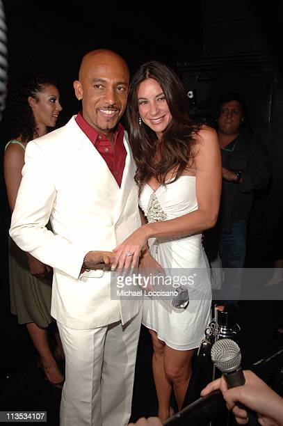 Montel Williams and Fiancee Tara Fowler during Montel Williams' 50th Birthday Bash and Toys for Tots Benefit in New York City New York United States