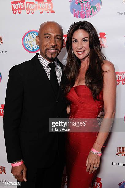 Montel Williams and Tara Fowler attend Elizabeth Stanton's Sweet 16 Benefiting Toys for Tots at The Globe Theatre on December 18 2011 in Universal...