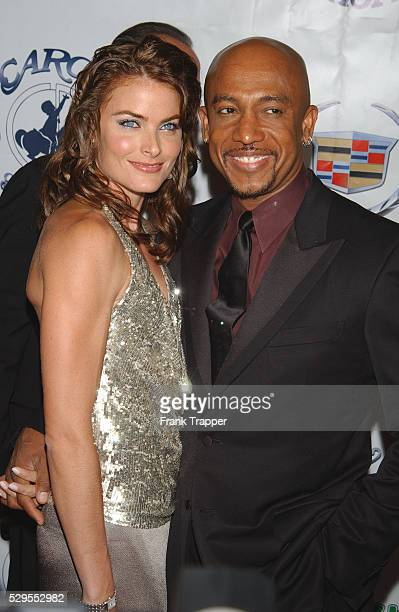 Montel Williams and wife arriving at the 15th Carousel of Hope