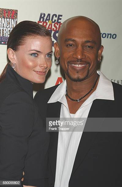 Montel Williams and wife arriving at the10th anniversary of the Race To Erase MS gala