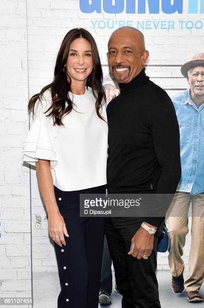 Montel Williams and wife Tara Fowler attend the Going in Style New York premiere at SVA Theatre on March 30 2017 in New York City