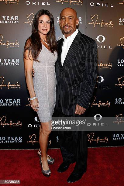 Montel Williams and wife Tara Williams attends the We Are Family Foundation 10 Year Celebration Gala at the Hammerstein Ballroom on October 24 2011...