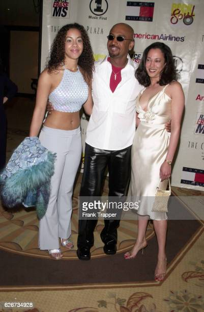 Montel Williams his daughter Ashley Lynn and his date Pamela Hearst arrive at the 8th annual Race to Erase MS gala 'Rock and Soul to Erase MS The...