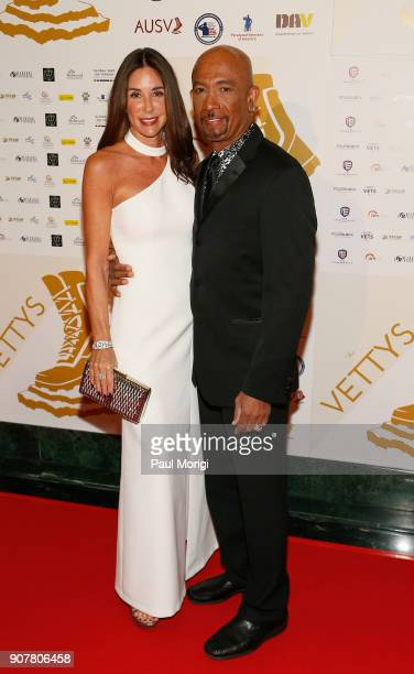 Montel Williams Presenter Veteran and Actor and Tara Fowler arrive at the 3rd Annual Vetty Awards at The Mayflower Hotel on January 20 2018 in...