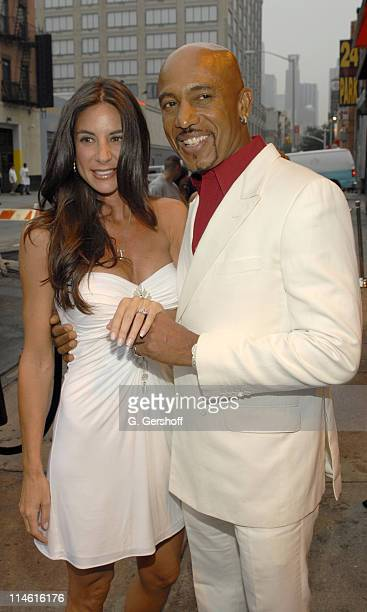 Montel Williams showing the ring he gave his fiancee Tara Fowler