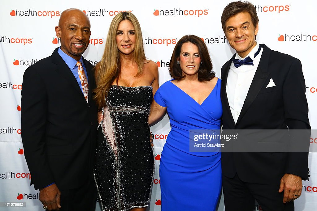 Montel Williams, Tara Fowler, Lisa Oz and Dr. Mehmet Oz attend HealthCorp's 9th Annual Gala at Cipriani Wall Street on April 29, 2015 in New York City.