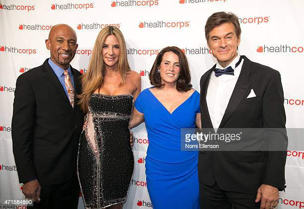 Montel Williams Tara Fowler Lisa Oz and Dr Mehmet Oz attend the 9th Annual HealthCorps' Gala at Cipriani Wall Street on April 29 2015 in New York City