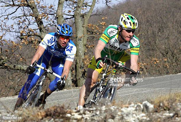 French Nicolas Jalabert and French Nicolas Portal ride during the fourth stage of the 63th edition of the Paris-Nice cycling race, 10 March 2005...