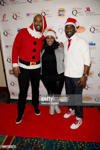 Montell Jordan Kelly Price and Q Parker attend the '5th Annual Caroling with Q Parker and Friends' at Atlanta Marriott Buckhead on December 11 2017...