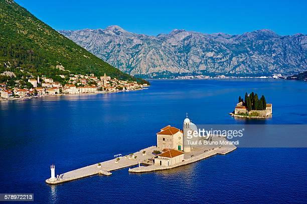 montenegro, bay of kotor, perast - kotor bay stock pictures, royalty-free photos & images