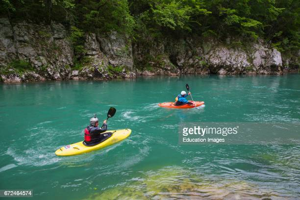 Montenegro Durmitor National Park Kayaking on the Tara River in the Tara Canyon The Park is a UNESCO World Heritage Site