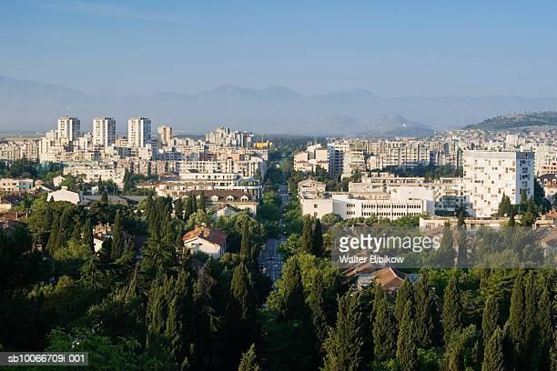 Montenegro, Podgorica, Cityscape from Gorica hill