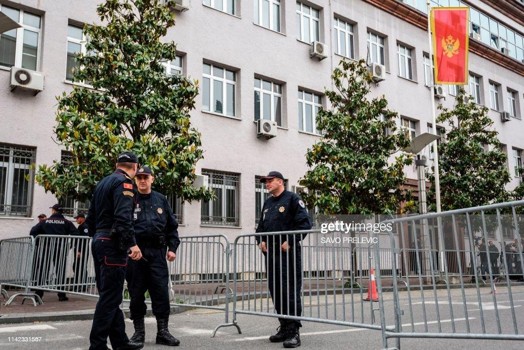 MONTENEGRO-RUSSIA-SERBIA-JUSTICE-POLITICS : News Photo
