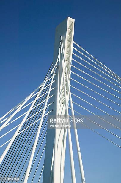 MONTENEGRO-Podgorica: The Millenium Bridge across the Moraca River / Morning