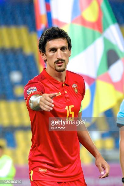 Montenegro's Stefan Savic during UEFA Nations League 2019 Final Tournament match between Romania and Montenegro on 07 September 2018 at Ilie Oana...