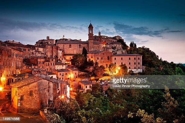 Montepulciano during blue hour
