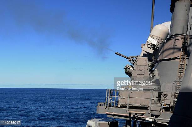 uss monterey conducts a close-in weapons system live fire test. - bang boat stock pictures, royalty-free photos & images