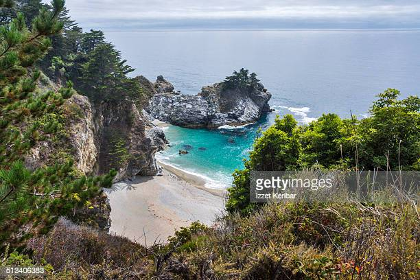 monterey county, california, usa - mcway falls stock pictures, royalty-free photos & images