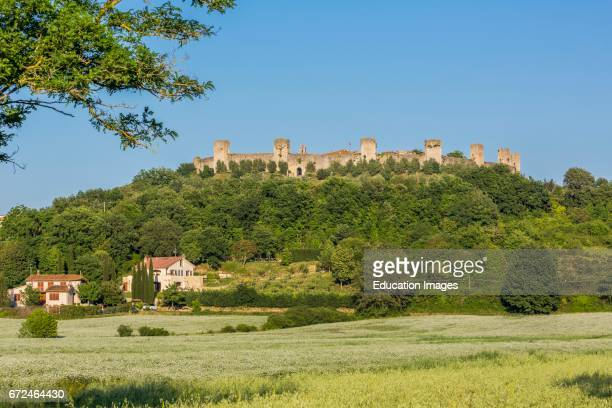 Monteriggioni Siena Province Tuscany Italy Medieval walled town dating from the early 13th century