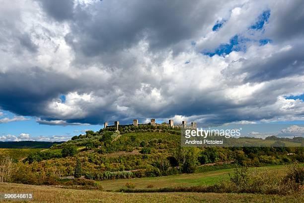 Monteriggioni Walled Village in Tuscany, Italy