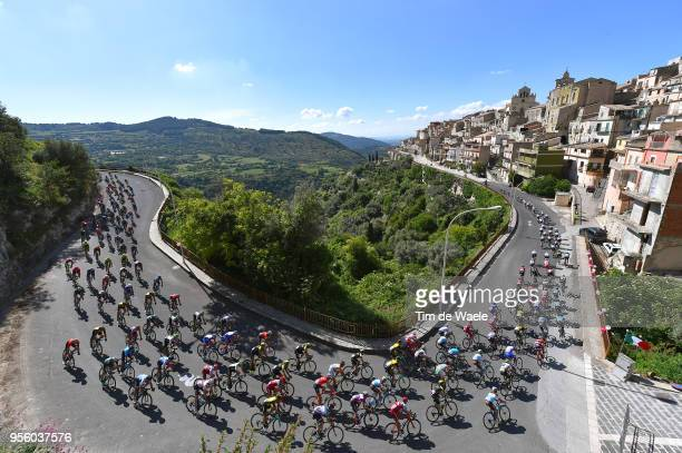 Monterosso Almao Village / Peloton / Landscape / during the 101th Tour of Italy 2018 Stage 4 a 198km stage from Catania to Caltagirone 572m / Giro...