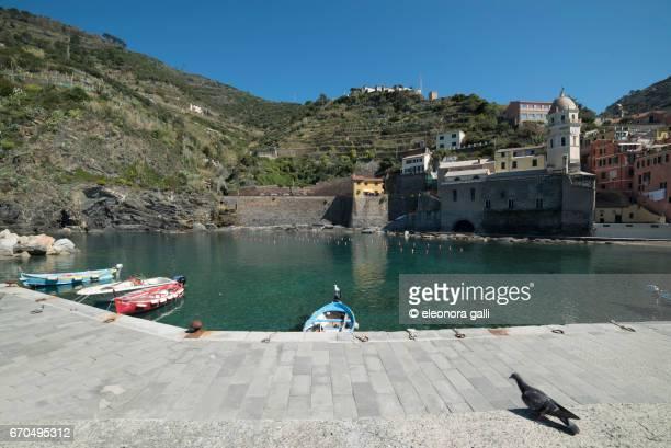 monterosso harbor - liguria stock photos and pictures