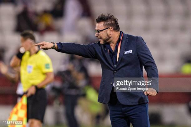 Monterrey Head Coach Antonio Mohamed gestures during the FIFA Club World Cup 2nd round match between Monterrey and AlSadd Sports Club at Jassim Bin...