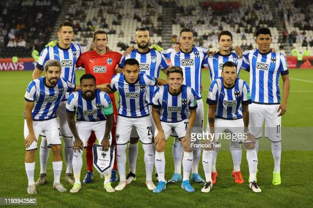 Monterrey pose for a photo during the FIFA Club World Cup 2nd round match between Monterrey and AlSadd Sports Club at Jassim Bin Hamad Stadium on...