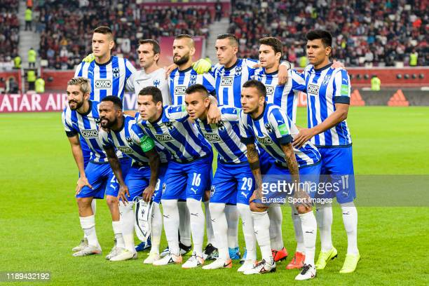 Monterrey squad pose for team photo during FIFA Club World Cup SemiFinal match between Monterrey and Liverpool FC at Education City Stadium on...
