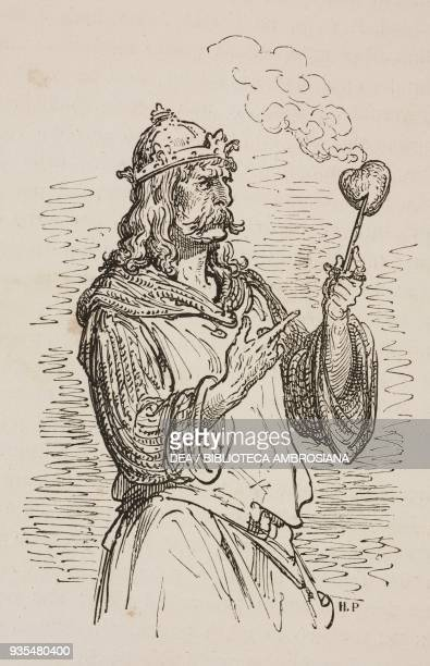 Montesino after tearing out his friend Durandarte's heart engraving by Gustave Dore from Don Quixote of La Mancha by Miguel de Cervantes Volume II...