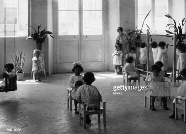 Montessori Kindergarten. Naples 1920-30.