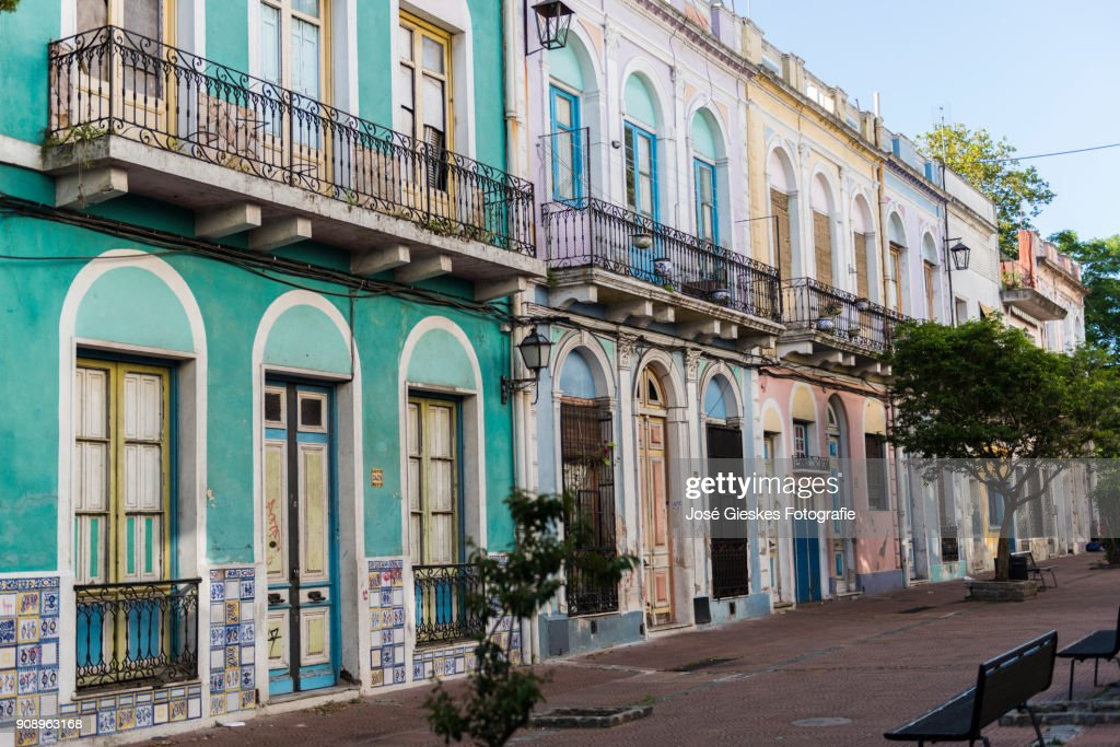 Montevideo colonial architecture : Stock Photo