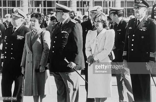Montevideo, Uruguay: Uruguay's ruling military junta , Navy Vice Admiral Rodolfo Invidio, Army Lt. Gen. Boscan Hontou, and Air Force Lt. Gen. Manuel...