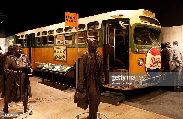 'Montgomery Bus Boycott' exhibit at the National Civil Rights Museum at the Lorraine Motel in Memphis Tennessee on October 3 2016